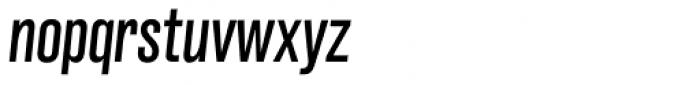 Grillmaster Condensed Regular Italic Font LOWERCASE