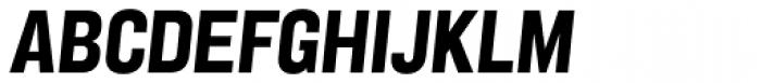 Grillmaster Narrow Extra Bold Italic Font UPPERCASE