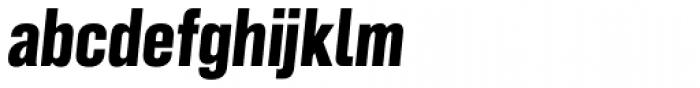 Grillmaster Narrow Extra Bold Italic Font LOWERCASE