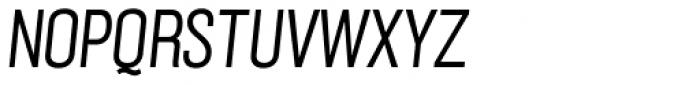 Grillmaster Narrow Light Italic Font UPPERCASE
