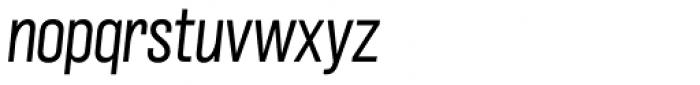 Grillmaster Narrow Light Italic Font LOWERCASE