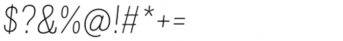 Grillmaster Regular Thin Italic Font OTHER CHARS