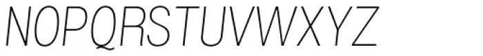 Grillmaster Regular Thin Italic Font UPPERCASE