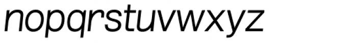 Grillmaster Semi Wide Light Italic Font LOWERCASE