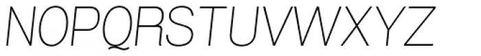 Grillmaster Semi Wide Thin Italic Font UPPERCASE