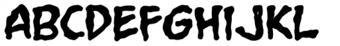 Grimly Fiendish Bold Font LOWERCASE