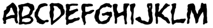 Grimly Fiendish Font LOWERCASE