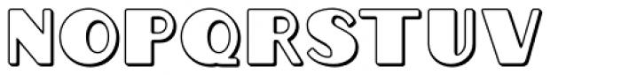 Grippo Outline Font UPPERCASE