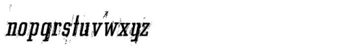 Grit Egyptienne Alternate Italic Font LOWERCASE