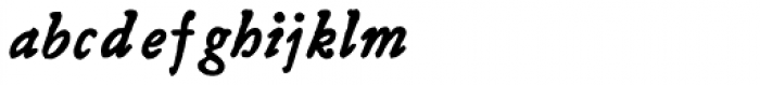 Grit Primer Bold Italic Font LOWERCASE