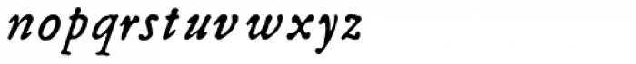 Grit Primer Italic Font LOWERCASE