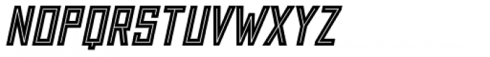 Grizzly Bear 2 Inline Italic Font LOWERCASE