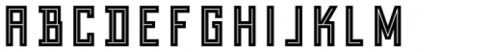 Grizzly Bear 9 Shadow Inline Font LOWERCASE