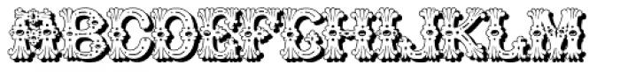 Grolier Shadow Font LOWERCASE