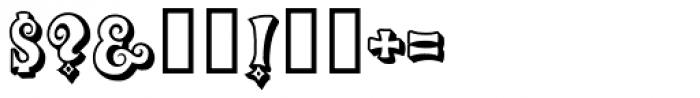 Groovy 3D Caps JNL Font OTHER CHARS