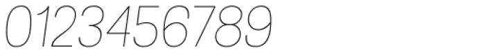 Grota Rounded Thin Italic Font OTHER CHARS