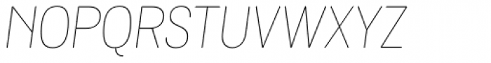 Grota Rounded Thin Italic Font UPPERCASE
