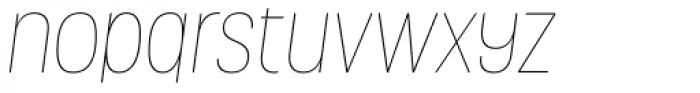 Grota Rounded Thin Italic Font LOWERCASE