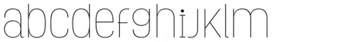 Grota Rounded Thin Font LOWERCASE