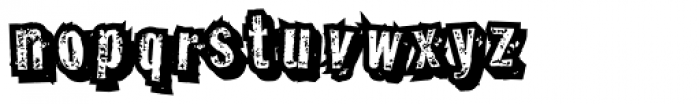 Grotbox Jumbled Font LOWERCASE