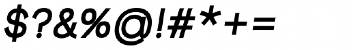Groteska Medium Italic Font OTHER CHARS