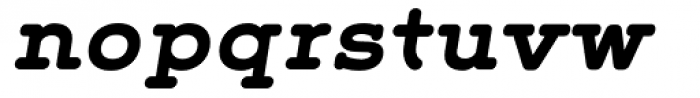 Grover Slab Bold Italic Font LOWERCASE