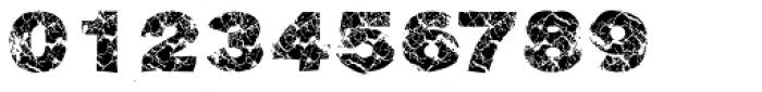 Grunge Broken Font OTHER CHARS