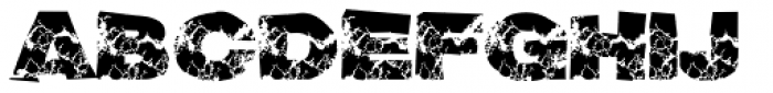 Grunge Broken Font UPPERCASE
