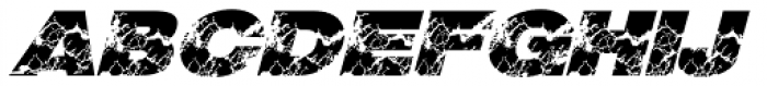 Grunge Italic Font LOWERCASE