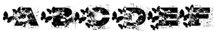Grunge Mud Butterfly Font LOWERCASE