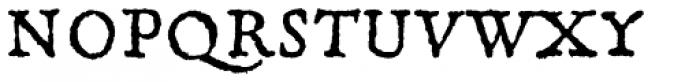 Gryphius MVB Italic Font UPPERCASE