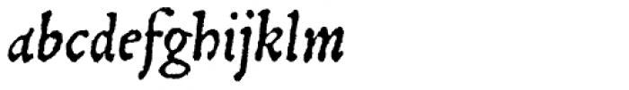 Gryphius MVB Italic Font LOWERCASE