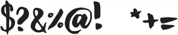 GS Claretta Brush Regular otf (400) Font OTHER CHARS