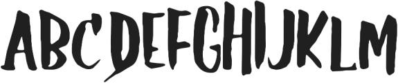 GS Claretta Brush Regular otf (400) Font UPPERCASE