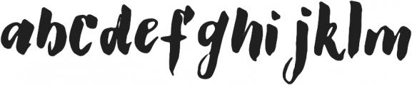 GS Claretta Brush Regular otf (400) Font LOWERCASE