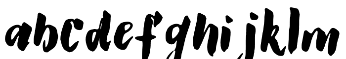 GS Claretta Brush Font LOWERCASE