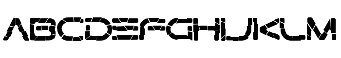 Gtek Broken Font LOWERCASE