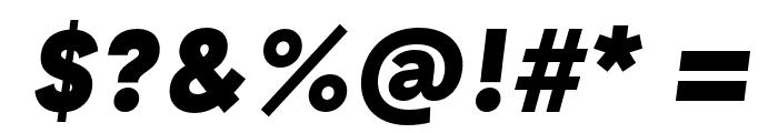 GT Haptik Black Oblique Font OTHER CHARS