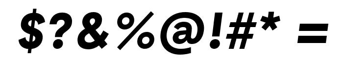 GT Haptik Bold Oblique Font OTHER CHARS