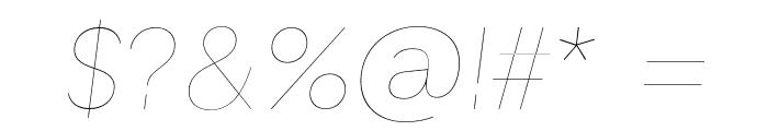 GT Haptik Lazer Oblique Font OTHER CHARS