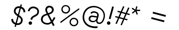 GT Haptik Light Rotalic Font OTHER CHARS