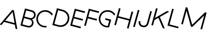 GT Haptik Light Rotalic Font UPPERCASE