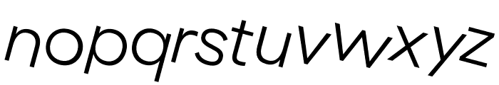 GT Haptik Light Rotalic Font LOWERCASE