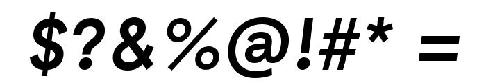 GT Haptik Medium Oblique Font OTHER CHARS