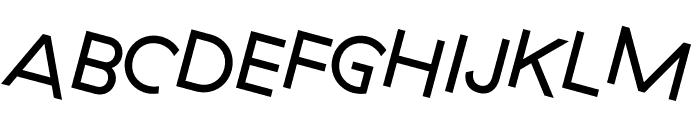 GT Haptik Regular Rotalic Font UPPERCASE