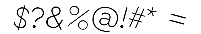 GT Haptik Thin Rotalic Font OTHER CHARS