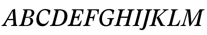 GT Super Text Regular Italic Font UPPERCASE
