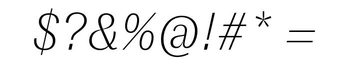 GT Zirkon Thin Italic Font