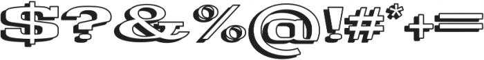 Gulana 3D ttf (400) Font OTHER CHARS