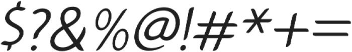 Gumela Light Italic otf (300) Font OTHER CHARS
